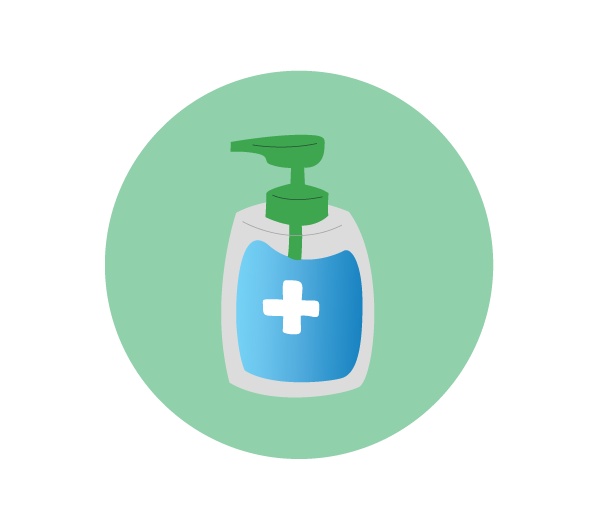 Hand Sanitizer Icon Flat Design