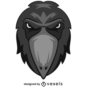 crow,animal,angry,wildlife,head,avatar,sports logo,sports emblem,logo,team mascot,emblem