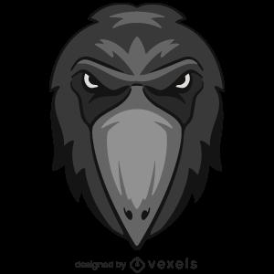 crow,animal,angry,wildlife,head,avatar,sports logo,sports emblem,logo,team mascot,emblem