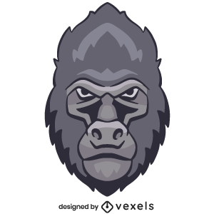 gorilla,animal,angry,wildlife,head,avatar,sports logo,sports emblem,logo,team mascot,emblem