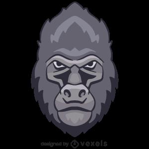 gorilla,animal,angry,wildlife,head,avatar,sports logo,sports emblem,logo,team mascot,emblem