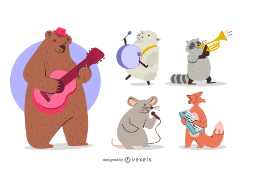 Animals Playing Musical Instruments Pack