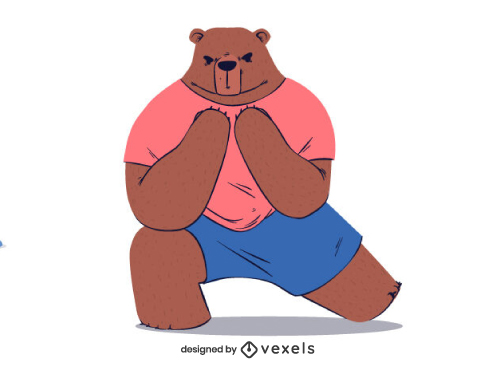 Bear Working out Aerobics Crossfit