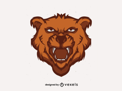 Bear Head for Logo or Sports Team Emblem