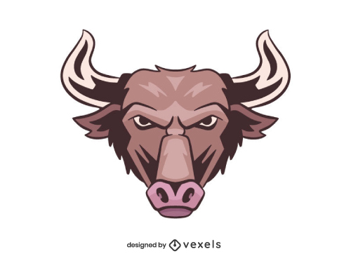 Angry Bull Head Shield Logo