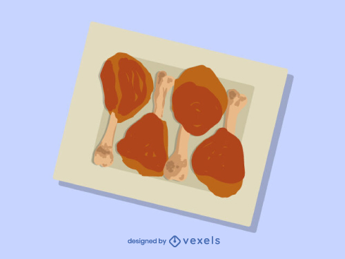 Chicken Legs Food Dish Illustration