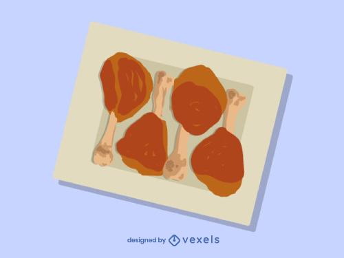 Chicken Legs Food Dish Illustration
