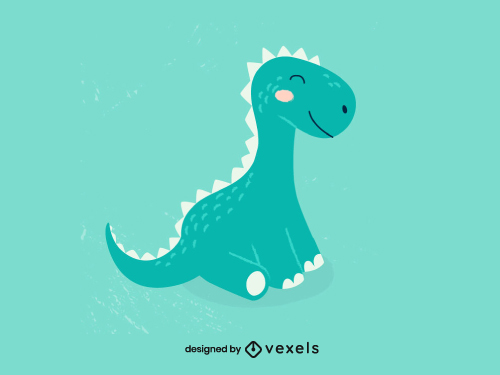Childish Cute Dinosaur Animal
