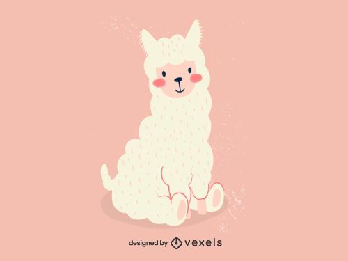 Baby Llama Baby Kawaii Animal