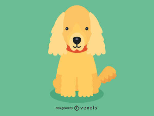 Cocker Spaniel Cute Dog Illustration