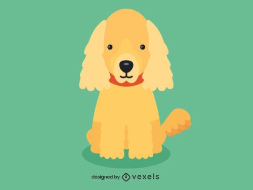 Cocker Spaniel Cute Dog Illustration