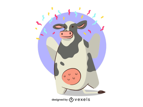 Cow Animal Dancing Birthday Party