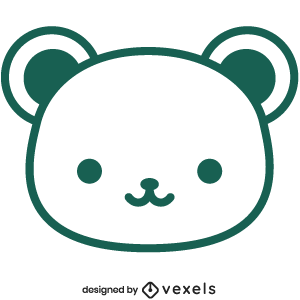 cute,bear,animal,cartoon,kawaii,bear head,baby style,avatar,flat,baby bear