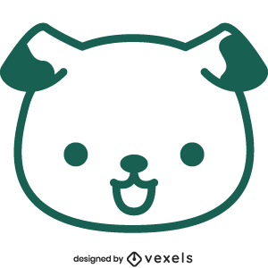 cute,dog,animal,cartoon,kawaii,dog head,baby style,avatar,flat,baby dog