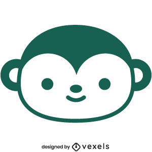 cute,monkey,animal,cartoon,kawaii,monkey head,baby style,avatar,flat,baby monkey