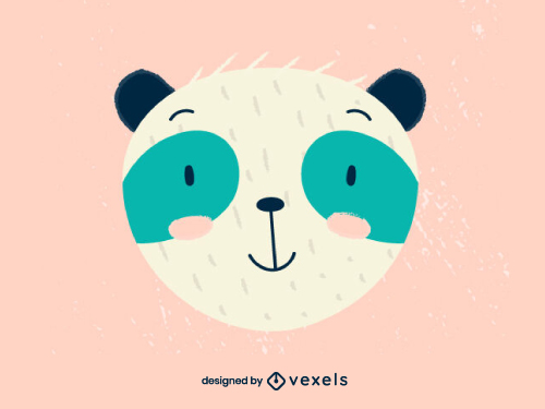 Cute Panda Head Baby Style