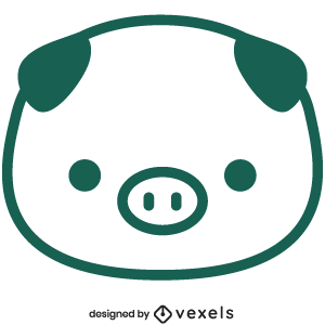 cute,pig,animal,cartoon,kawaii,pig head,baby style,avatar,flat,baby pig
