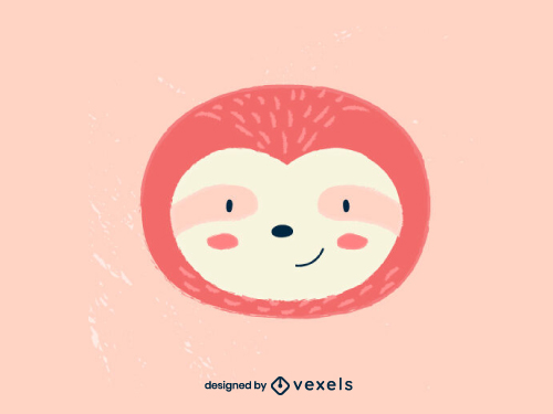 Cute Sloth Head Baby Style