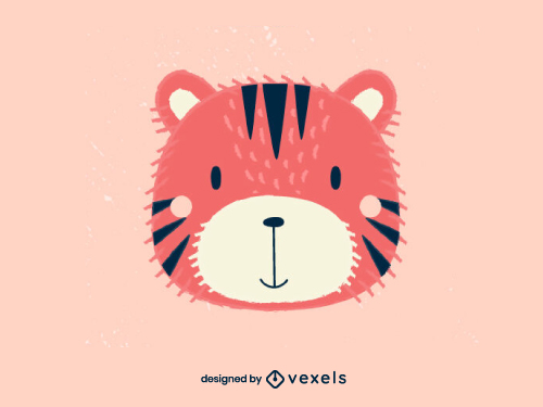 Tiger Head Scandinavian Baby Style