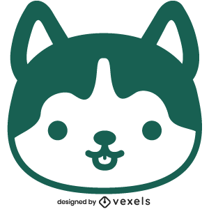 cute,wolf,animal,cartoon,kawaii,wolf head,baby style,avatar,flat,baby wolf