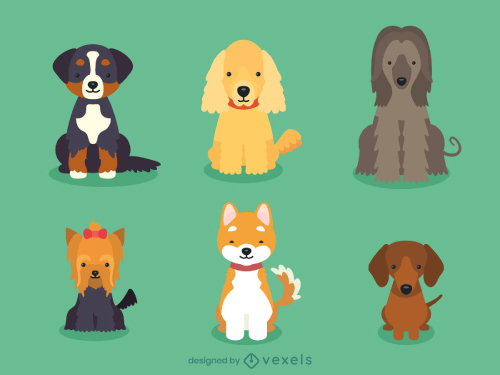 Cute Dog Breed Illustration Pack