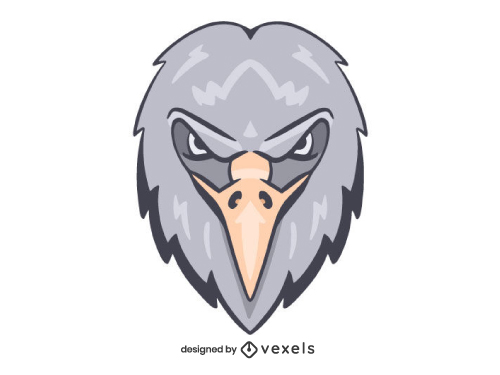 Hawk Eagle Head Shield Logo