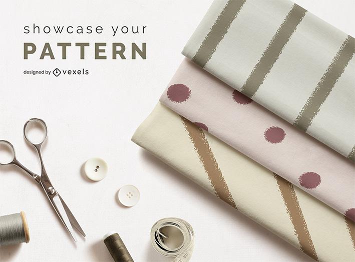 Fabric Roll On Desk Mockup