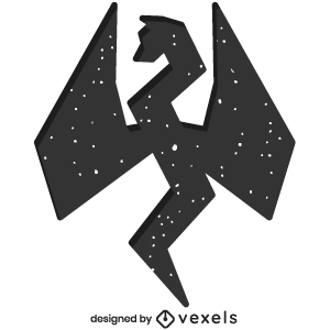 mythical,dragon,creature,bw,animal,fantasy,mythology,geometric,polygonal,symbol,silhouette