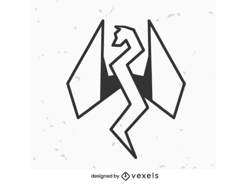 Dragon Geometric Stroke Logo
