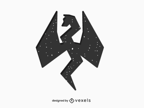 Geometric Dragon Silhouette Logo