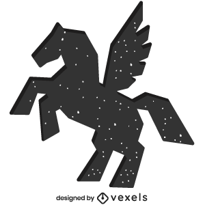 mythical,pegasus,creature,bw,animal,fantasy,mythology,geometric,polygonal,symbol,silhouette