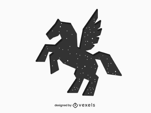 Pegasus Silhouette Geometric Logo