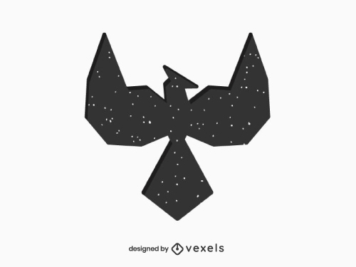 Phoenix Silhouette Geometric Logo