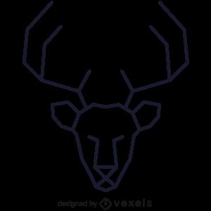logo,linear,deer,geometric,reindeer,symbol,icon,line icon,polygonal,head,stroke