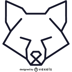 logo,linear,fox,geometric,symbol,icon,line icon,polygonal,head,stroke
