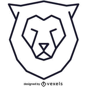 logo,linear,lion,geometric,symbol,icon,line icon,polygonal,head,stroke