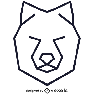 logo,linear,wolf,geometric,symbol,icon,line icon,polygonal,head,stroke