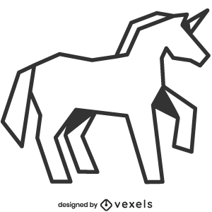 mythical,unicorn,creature,line art,bw,mythology,stroke,geometric,polygonal,animal,fantasy,symbol,black and white