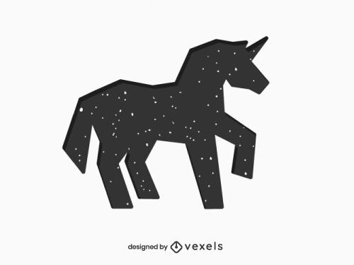 Unicorn Silhouette Geometric Logo