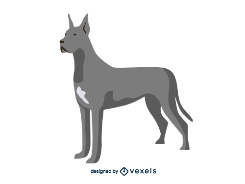 Great dane Dog Flat Cartoon Breed