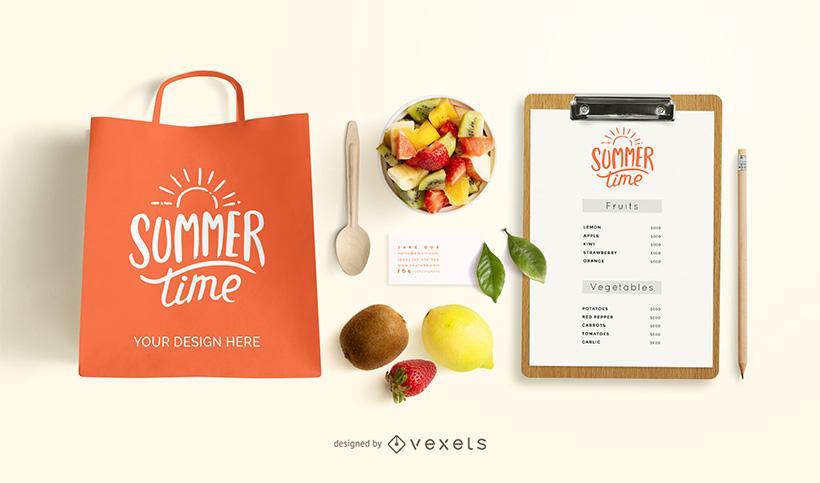 Healthy Food Branding Mockup