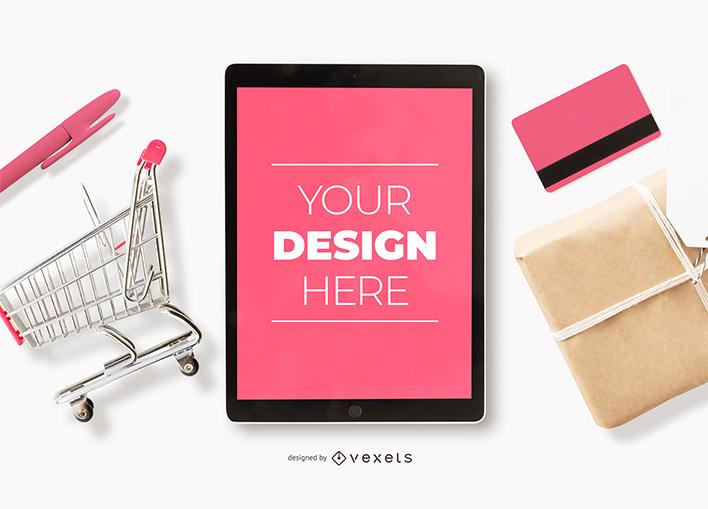 Ipad Online Shopping Mockup Ecommerce