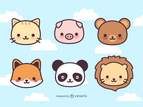 Kawaii Animals Cute Icon Pack