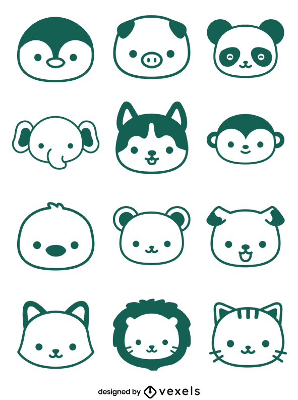 Kawaii Animal Icons