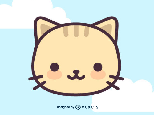 Kawaii Cat Kitty Animal Head Icon