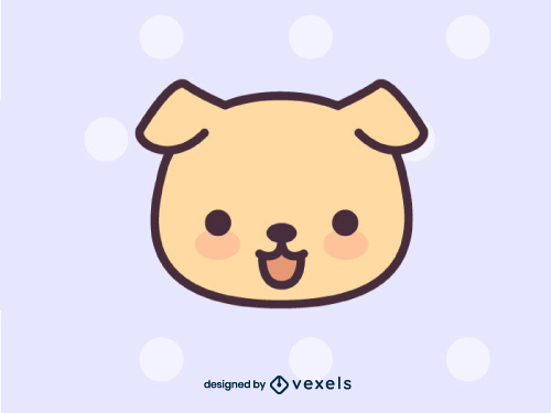 Kawaii Dog Puppy Animal Head Icon