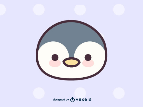 Cute Penguin Head Drawing