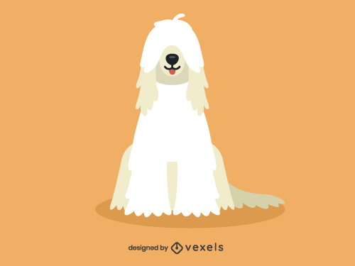 Komondor Cute Dog Illustration