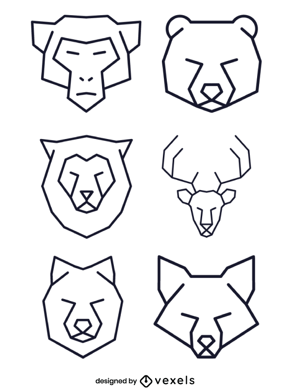Linear Animal Logo Geometric Polygonal