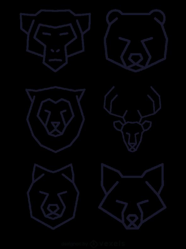 Linear Animal Logo Geometric Polygonal